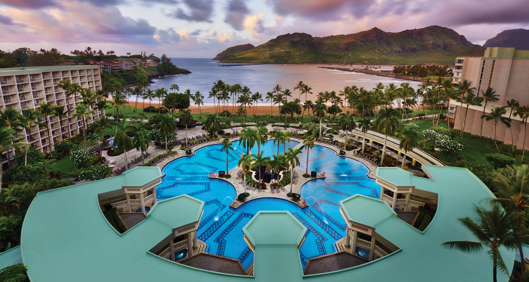sky view of Marriott's KAUA'I BEACH Club